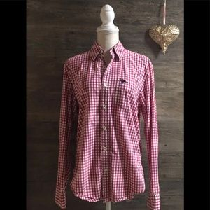 COPY - Red and White Checkered AEO Button Down Sh…